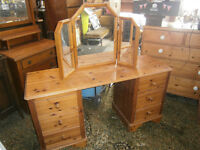 MODERN PINE DRESSING TABLE / DRESSING CHEST IN YEOVIL UP CYCLE SHABBY CHIC???