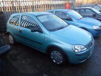 vauxhall corsa 1.0 ltr life 3dr 2004 model 62,000 miles, full mot on purchase