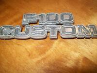F100 Custom fender emblem