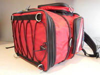Oxford x40 motorcycle pillion bag. Motorbike storage. Like New. Red.lightweight tailpack. Touring.