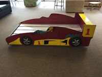 BRAND NEW EXCELLENT CONDITION! Childrens Racing Car Single Bed Frame Red flat packed