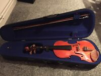 Violin, bow, case and resin. Excellent condition