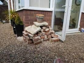 Used bricks (hardcore) and x5 concrete posts