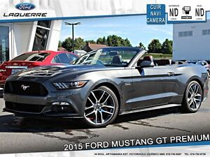 2015 Ford Mustang **GT PREMIUM*CUIR*NAVI*CAMERA*CRUISE*A/C**