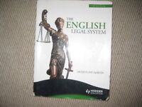 The English Legal System law textbook -7th edition