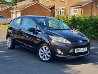 2010 FORD FIESTA 1.2 PETROL 3 DOOR BLACK*ZETEC* 80K GENUINE LOW MILES TAX&MOT GOOD RUNNER PX WELCOME