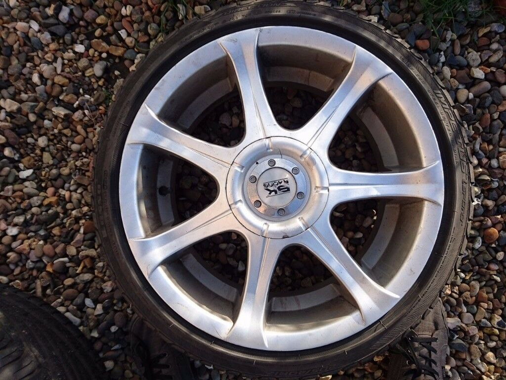 "Set of 17"" BK Racing Alloy Wheels 5x114.3"