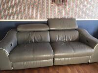 Elixir 3 seater leather Electric Recliner sofa and 2 matching Electric Recliner chairs FOR SALE