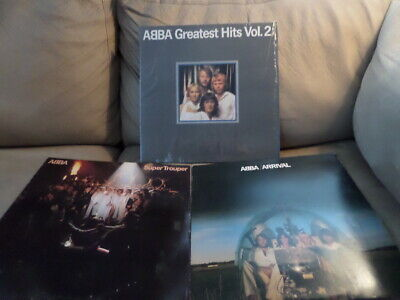 Trio of ABBA albums - Super Trouper, Arrival, Greatest Hits Vol Two - all good