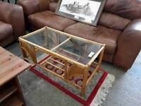 Glass Topped Coffee Table. Delivery Available