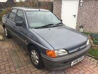 Ford escort 1.4 glx 1991 5 door hatch mot august one owner from new 53000 miles genuine