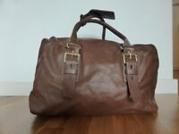 Zara Brown Week-end Leather Bag used in excellent condition