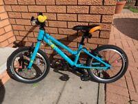 "Used, Carrera Star Turquoise Girls Kids Bike Bicycle 16"" Inch Wheels Alloy Frame V-Brakes for sale  Kingswells, Aberdeen"