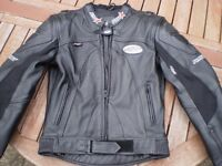 """RST Leather motorcycle jacket size UK 38"""" chest"""