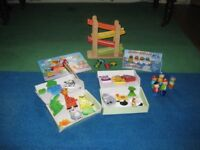 Great selection of wooden toys. Six items, all in good condition. From age 3+ . Smoke-free home.
