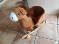 Little rocking horse and has wheels