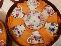 Decorative cups and saucers