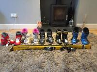 Kids ski boots (one pair with matching skis) Size 12, 13, 13.5, 2.5 - £5 to £15