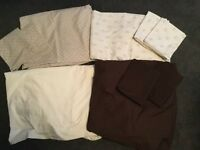 2 Double Duvet Sets, fitted sheets & pillowcases