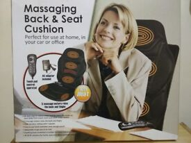 Massaging ,Vibrating Cushion for Back and Relaxation