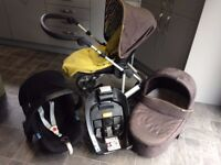 Mamas & Papas Pram System Carry Cot, Stroller, Car Seat & Base *REDUCED*