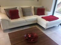 Modern Leather Corner Sofa/Suite