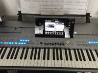 Yamaha Tyros 5 Keyboard Workstation, Speakers, Pedal, Stand and Seat