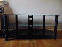 TV Stand -Black Glass £45
