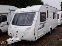 Superb 2011 Swift Expression 480 Fixed Bed Lightweight Caravan, Max Laden is just 1342kgs