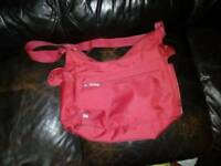 Red pram bag