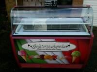 7 flavours ice cream display