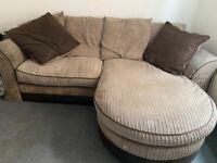 Brown Fabric Corner Sofa for Sale