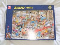 Jan Van Haasteren 3,000 piece Jigsaw Puzzle 'The Dog Show'.Excellent condition. Can deliver.