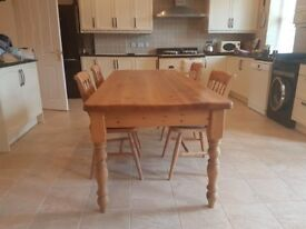 7ft Pine Dining Table