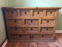 Solid Wood 12 Drawer Dresser - Great Condition