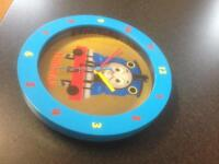 Thomas The Tank engine wall clock and curtains