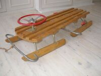 Amazing Vintage Sledge - steering, brakes, 2-3 people, solid and great fun.
