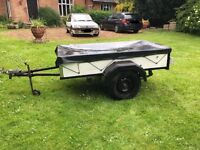 Metal Trailer with drop tail gate, light board & cover