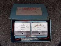 Vintage Volt/Amp Meter (WILKSON)