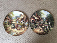 Wedgwood Country Days plates Early Morning Milk & The Apple Pickers, Chris Howells.£4 both, £2.50 ea