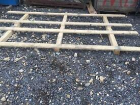 Industrial pallets for sale. 10 ft long by 5ft wide.
