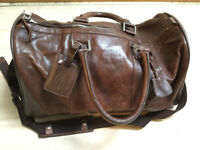 Gino Ferrari Leather Holdall (Brown)