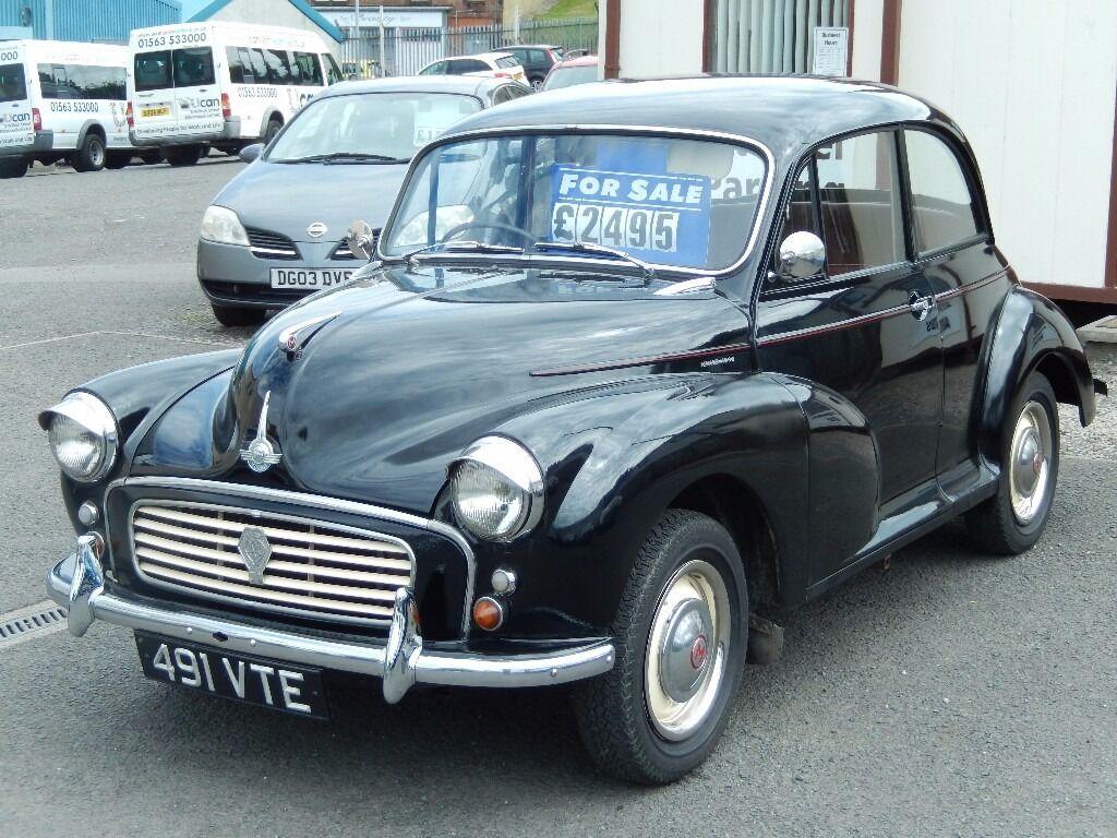 1961 morris minor 1 0 saloon black historic vehicle. Black Bedroom Furniture Sets. Home Design Ideas