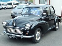 1961 Morris Minor 1.0 Saloon, Black. **Historic Vehicle**