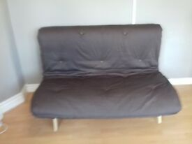 Double futon sofa bed mattress and frame with/without throws