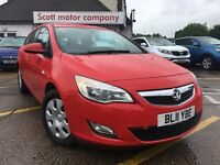 VAUXHALL ASTRA 1.7 CDTi ecoFLEX 16v Exclusiv 5dr (red) 2011