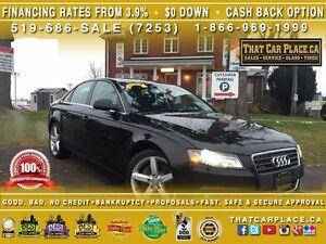2011 Audi A4 2.0Turbo Quattro PREMIUM-$74/Wk-Bluetooth-HtdSts