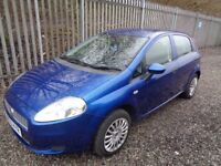 FIAT PUNTO ACTIVE 2009 1.4 PETROL 5 DR HATCHBACK BLUE 51,000 MILES MOT 5/12/18 no advisories