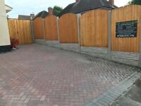 10 bays of fence supply and fit £725 fencing