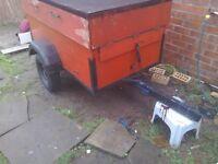 A car trailer 5feet by 3feet inderpentent surspention tex